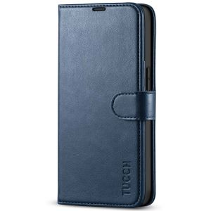 TUCCH iPhone 13 Pro Wallet Case, iPhone 13 Pro PU Leather Case, Folio Flip Cover with RFID Blocking and Kickstand - Dark Blue
