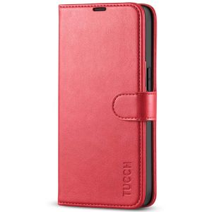 TUCCH iPhone 13 Pro Wallet Case, iPhone 13 Pro PU Leather Case, Folio Flip Cover with RFID Blocking and Kickstand - Bright Red