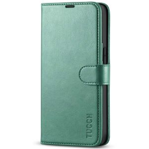 TUCCH iPhone 13 Pro Wallet Case, iPhone 13 Pro PU Leather Case, Folio Flip Cover with RFID Blocking and Kickstand - Myrtle Green