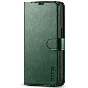 TUCCH iPhone 13 Pro Wallet Case, iPhone 13 Pro PU Leather Case, Folio Flip Cover with RFID Blocking and Kickstand - Midnight Green