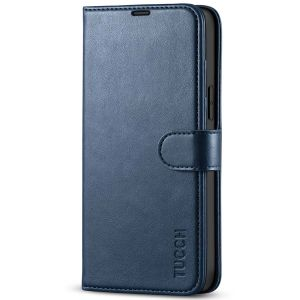 TUCCH iPhone 13 Pro Max Wallet Case, iPhone 13 Pro Max PU Leather Case with Folio Flip Book RFID Blocking, Stand, Card Slots, Magnetic Clasp Closure - Dark Blue