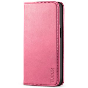 TUCCH iPhone 13 Pro Wallet Case, iPhone 13 Pro PU Leather Case with Folio Flip Book Style, Kickstand, Card Slots, Magnetic Closure - Hot Pink
