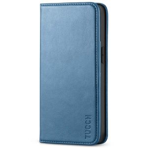 TUCCH iPhone 13 Pro Max Leather Case, iPhone 13 Pro Max PU Wallet Case with Stand Folio Flip Book Cover and Magnetic Closure - Light Blue