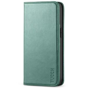 TUCCH iPhone 13 Pro Wallet Case, iPhone 13 Pro PU Leather Case with Folio Flip Book Style, Kickstand, Card Slots, Magnetic Closure - Myrtle Green