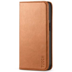 TUCCH iPhone 13 Pro Max Leather Case, iPhone 13 Pro Max PU Wallet Case with Stand Folio Flip Book Cover and Magnetic Closure - Light Brown