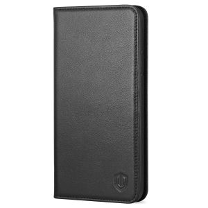 SHIELDON iPhone XR Hülle iPhone XR Flip Case Echt Leder Schutzhülle mit Kartenfach Magnetverschluss und Standfunktion