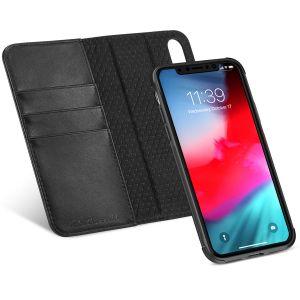 """TUCCH iPhone X Hülle, iPhone X Abnehmbar Leder Geldbörse Hülle, iPhone X Schutz Handytasche RFID-Schutz Sleep/Wake Funktion Stander Kartenfächer 5.8"""" Schwarz"""