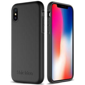 SHIELDON iPhone X Hülle, iPhone XS Hülle Stoßfeste Handyhülle Doppelschichte dünne Schutzhülle iPhone 10 (5,10 Zoll), verbindet Weiche Silikon TPU mit Harter PC Schale