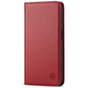 SHIELDON iPhone 12 Mini Wallet Case - Mini iPhone 12 5.4-inch Folio Case - Dark Red