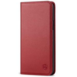SHIELDON iPhone 12 Pro Max Wallet Case - iPhone 12 Pro Max 6.7-inch Folio Leather Case Cover - Dark Red