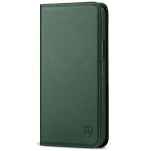 SHIELDON iPhone 12 Pro Max Wallet Case - iPhone 12 Pro Max 6.7-inch Folio Leather Case Cover - Midnight Green