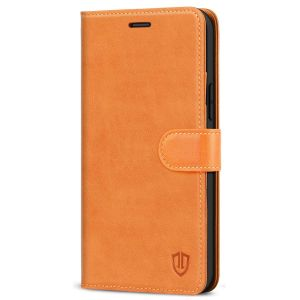 SHIELDON iPhone 12 Pro Max Wallet Case, Genuine Leather Folio Cover with Kickstand and Magnetic Closure for iPhone 12 Pro Max 6.7-inch 5G Brown
