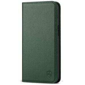 SHIELDON iPhone 13 Mini Wallet Case - Mini iPhone 13 5.4-inch Folio Book Flip Cover - Midnight Green