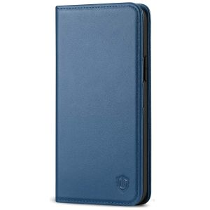 SHIELDON iPhone 13 Pro Max Wallet Case, iPhone 13 Pro Max Genuine Leather Cover - Royal Blue