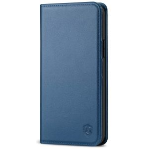 SHIELDON iPhone 13 Pro Wallet Case, iPhone 13 Pro Genuine Leather Cover with Magnetic Closure - Royal Blue