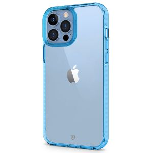 SHIELDON iPhone 13 Pro Max Clear Case Anti-Yellowing, Transparent Thin Slim Anti-Scratch Shockproof PC+TPU Case with Tempered Glass Screen Protector for iPhone 13 Pro Max 5G - Blue