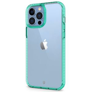 SHIELDON iPhone 13 Pro Max Clear Case Anti-Yellowing, Transparent Thin Slim Anti-Scratch Shockproof PC+TPU Case with Tempered Glass Screen Protector for iPhone 13 Pro Max 5G - Green
