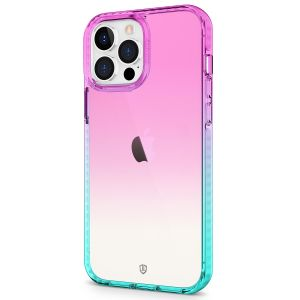SHIELDON iPhone 13 Pro Max Clear Case Anti-Yellowing, Transparent Thin Slim Anti-Scratch Shockproof PC+TPU Case with Tempered Glass Screen Protector for iPhone 13 Pro Max 5G - VioletBlue