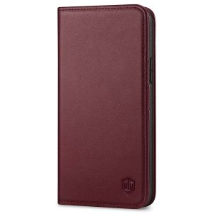 SHIELDON iPhone 13 Pro Wallet Case, iPhone 13 Pro Genuine Leather Cover with Magnetic Closure - Wine Red