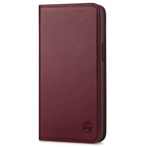 SHIELDON iPhone 13 Pro Max Wallet Case, iPhone 13 Pro Max Genuine Leather Cover - Wine Red