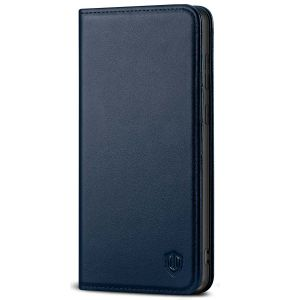 SHIELDON SAMSUNG GALAXY S20FE Folio Case Wallet Case, SAMSUNG GALAXY S20FE Genuine Leather Wallet Case - Navy Blue