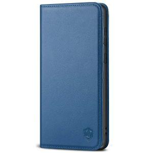 SHIELDON SAMSUNG GALAXY S20FE Folio Case Wallet Case, SAMSUNG GALAXY S20FE Genuine Leather Wallet Case - Royal Blue