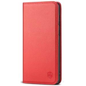 SHIELDON SAMSUNG GALAXY S20FE Folio Case Wallet Case, SAMSUNG GALAXY S20FE Genuine Leather Wallet Case - Red