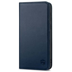 SHIELDON SAMSUNG S21 Plus Wallet Case - SAMSUNG Galaxy S21 Plus 6.7-inch Folio Leather Case - Navy Blue