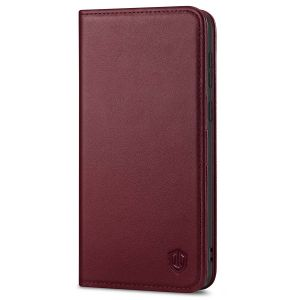 SHIELDON SAMSUNG S21 Plus Wallet Case - SAMSUNG Galaxy S21 Plus 6.7-inch Folio Leather Case - Wine Red