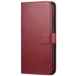 TUCCH iPhone 11 Pro Wallet Case for Women, iPhone 11 Pro Folio Case Thin - Dark Red