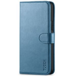 TUCCH iPhone 11 Pro Wallet Case with Strap, iPhone 11 Pro Stand Case with Card Holder - Lake Blue