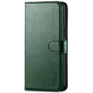 TUCCH iPhone 11 Pro Wallet Case with Strap, iPhone 11 Pro Stand Case with Card Holder - Midnight Green