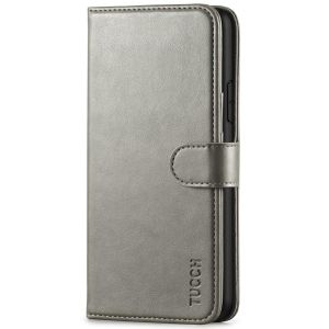 TUCCH iPhone 11 Pro Max Wallet Case for Men, iPhone 11 Pro Max Leather Cover with Magnetic Clasp - Grey