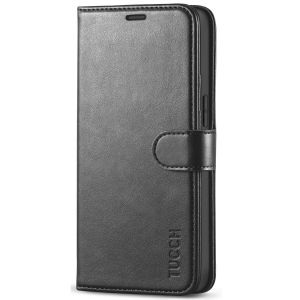 TUCCH iPhone 12 Mini 5.4-inch Flip Leather Wallet Case - Black