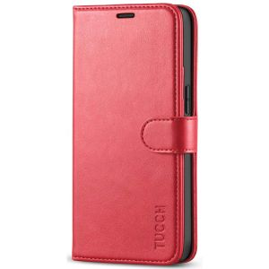 TUCCH iPhone 12 Mini 5.4-inch Flip Leather Wallet Case - Red