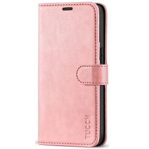 TUCCH iPhone 12 Mini 5.4-inch Flip Leather Wallet Case - Rose Gold