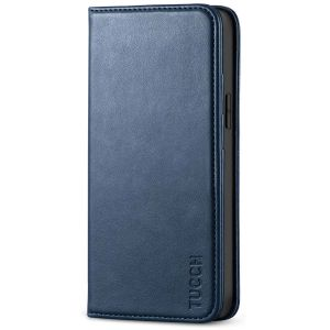 TUCCH iPhone 12 Mini Wallet Case, iPhone 12 Mini Flip Cover, Magnetic Closure Phone Case for Mini iPhone 12 5G 5.4-inch Blue