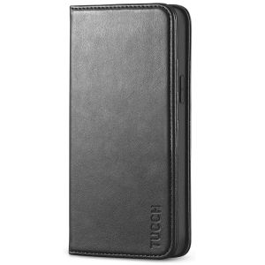 TUCCH iPhone 12 Mini Wallet Case, iPhone 12 Mini Flip Cover, Magnetic Closure Phone Case for Mini iPhone 12 5G 5.4-inch Black
