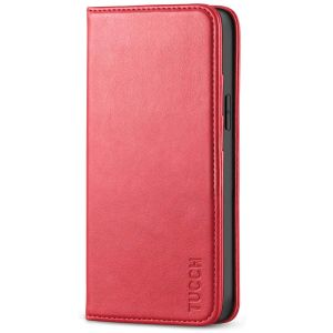 TUCCH iPhone 12 Mini Wallet Case, iPhone 12 Mini Flip Cover, Magnetic Closure Phone Case for Mini iPhone 12 5G 5.4-inch Red
