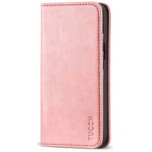 TUCCH iPhone 12 Mini Wallet Case, iPhone 12 Mini Flip Cover, Magnetic Closure Phone Case for Mini iPhone 12 5G 5.4-inch Rose Gold