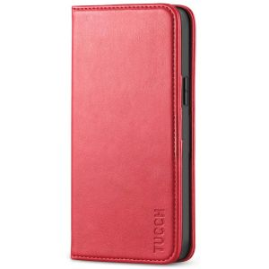 TUCCH iPhone 12 Wallet Case, iPhone 12 Pro Wallet Case, Flip Cover with Stand, Credit Card Slots, Magnetic Closure for iPhone 12 / Pro 6.1-inch 5G Red