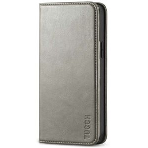TUCCH iPhone 12 Wallet Case, iPhone 12 Pro Wallet Case, Flip Cover with Stand, Credit Card Slots, Magnetic Closure for iPhone 12 / Pro 6.1-inch 5G Grey