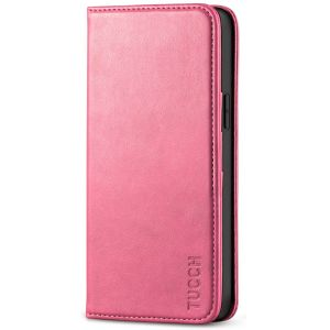 TUCCH iPhone 12 Wallet Case, iPhone 12 Pro Wallet Case, Flip Cover with Stand, Credit Card Slots, Magnetic Closure for iPhone 12 / Pro 6.1-inch 5G Hot Pink