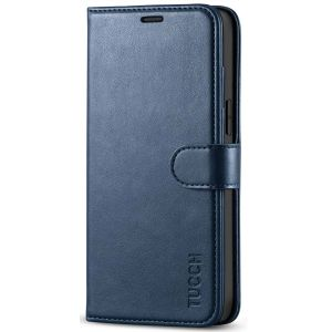 TUCCH iPhone 12 Pro Max Wallet Case, iPhone 12 Pro Max 6.7-inch Flip Case - Blue