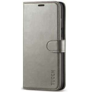 TUCCH iPhone 12 Pro Max Wallet Case, iPhone 12 Pro Max 6.7-inch Flip Case - Grey
