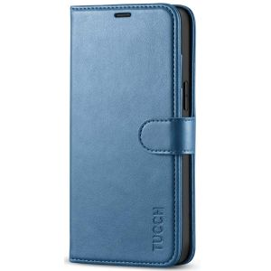 TUCCH iPhone 12 Pro Max Wallet Case, iPhone 12 Pro Max 6.7-inch Flip Case - Light Blue
