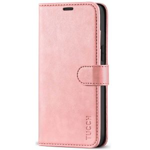 TUCCH iPhone 12 Pro Max Wallet Case, iPhone 12 Pro Max 6.7-inch Flip Case - Rose Gold
