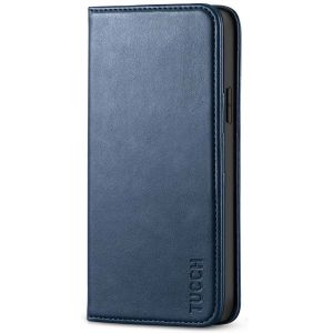 TUCCH iPhone 12 Pro Max Wallet Case, iPhone 12 Pro Max PU Leather Case, Flip Cover with Stand, Credit Card Slots, Magnetic Closure for iPhone 12 Pro Max 6.7-inch 5G Blue
