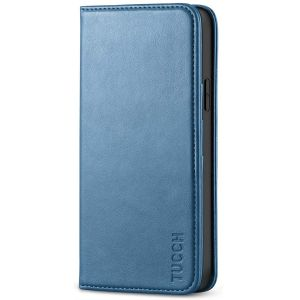 TUCCH iPhone 12 Pro Max Wallet Case, iPhone 12 Pro Max PU Leather Case, Flip Cover with Stand, Credit Card Slots, Magnetic Closure for iPhone 12 Pro Max 6.7-inch 5G Lake Blue