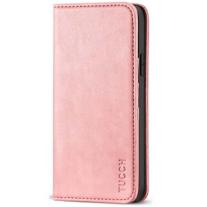 TUCCH iPhone 12 Pro Max Wallet Case, iPhone 12 Pro Max PU Leather Case, Flip Cover with Stand, Credit Card Slots, Magnetic Closure for iPhone 12 Pro Max 6.7-inch 5G Rose Gold